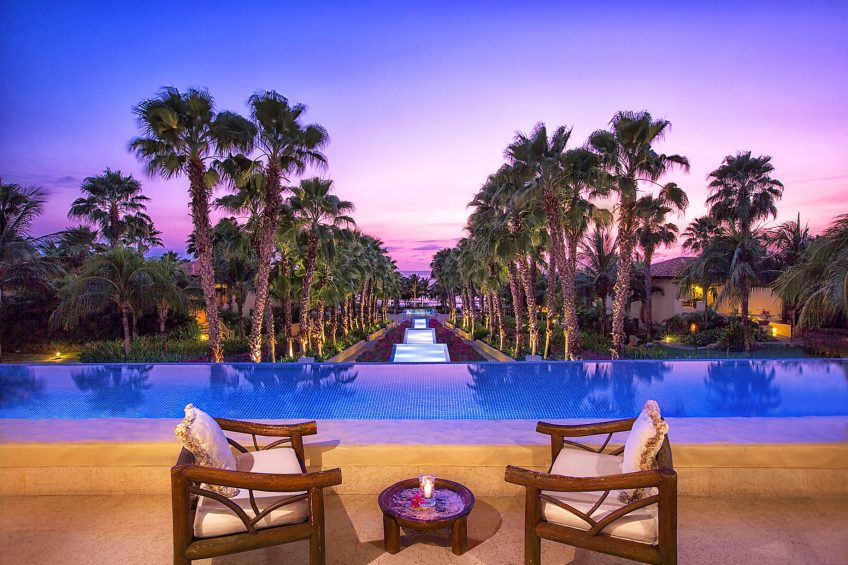 The St. Regis Punta Mita Luxury Resort - Nayarit, Mexico - Altamira Reflecting Pool Twilight