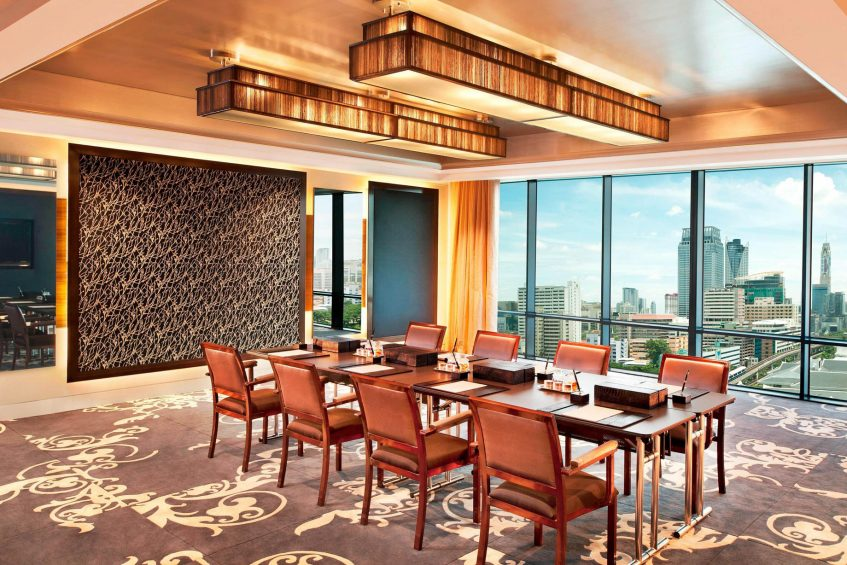 The St. Regis Bangkok Luxury Hotel - Bangkok, Thailand - Rajadamri III Boardroom Setup