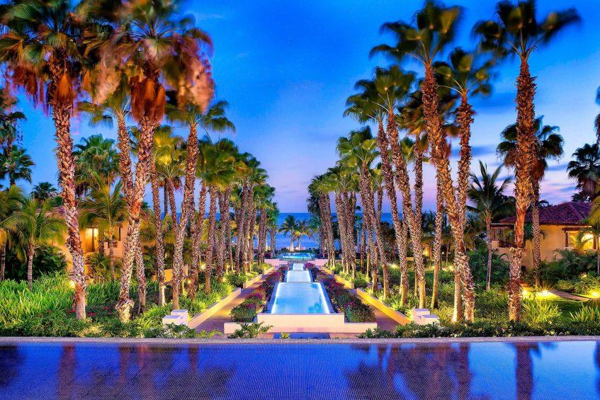 The St. Regis Punta Mita Luxury Resort - Nayarit, Mexico - Altamira Reflecting Pool Sunset