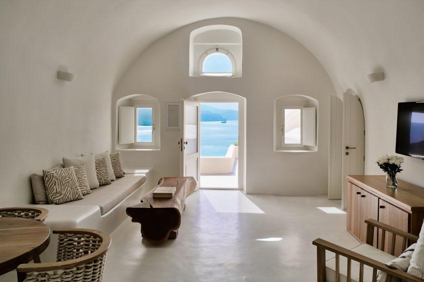 Mystique Luxury Hotel Santorini – Oia, Santorini Island, Greece - Holistic Villa Living Room