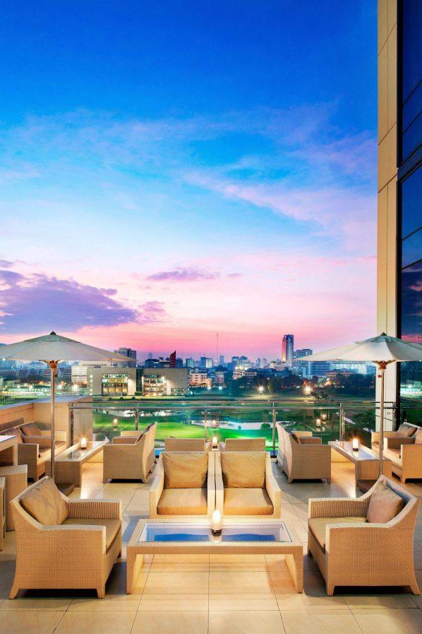 The St. Regis Bangkok Luxury Hotel - Bangkok, Thailand - The St. Regis Bar Terrace