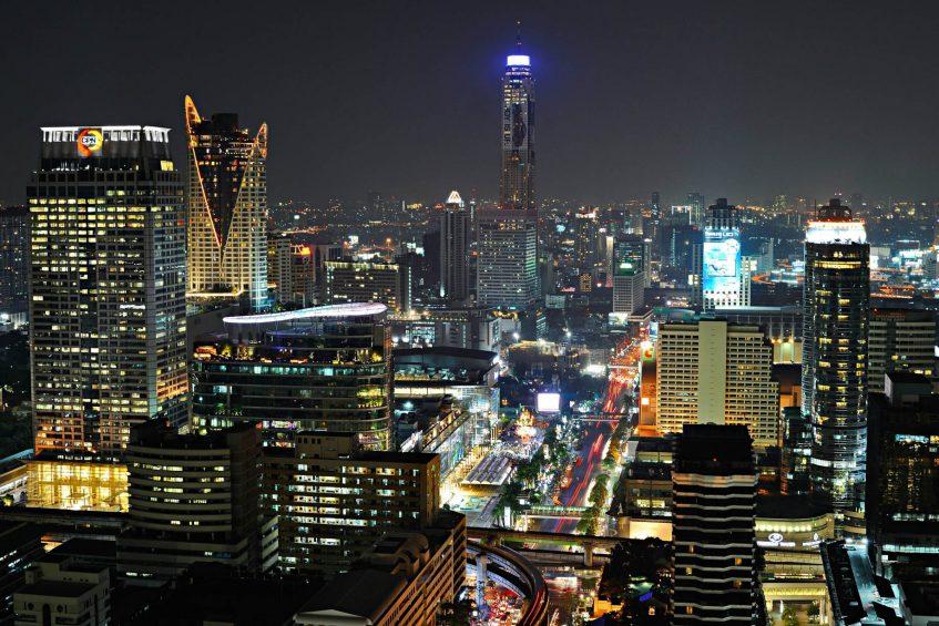 The St. Regis Bangkok Luxury Hotel - Bangkok, Thailand - Guest Room Night City View