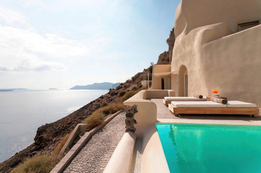 Mystique Luxury Hotel Santorini – Oia, Santorini Island, Greece - Mystery Villa Private Ocean View Pool Deck