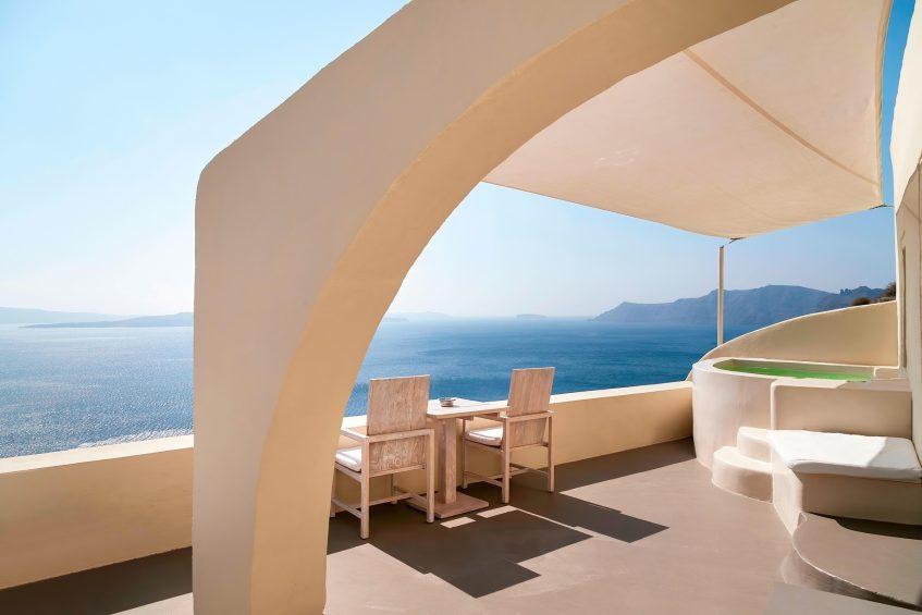 Mystique Luxury Hotel Santorini – Oia, Santorini Island, Greece - Private Terrace with Jacuzzi