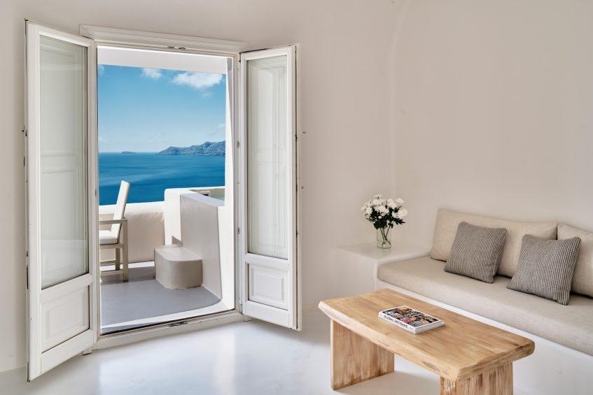 Mystique Luxury Hotel Santorini – Oia, Santorini Island, Greece - Spiritual Suite Patio View