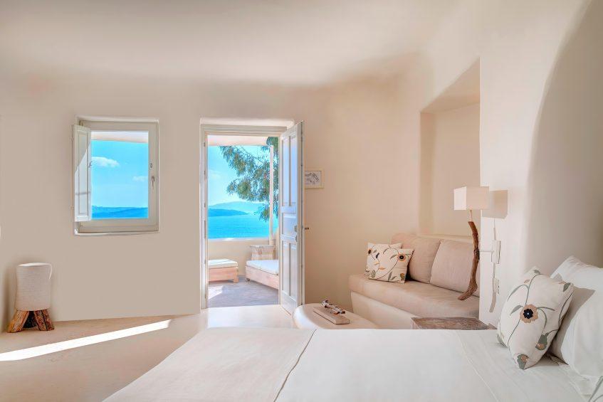 Mystique Luxury Hotel Santorini – Oia, Santorini Island, Greece - Vibrant Suite Living Area Views
