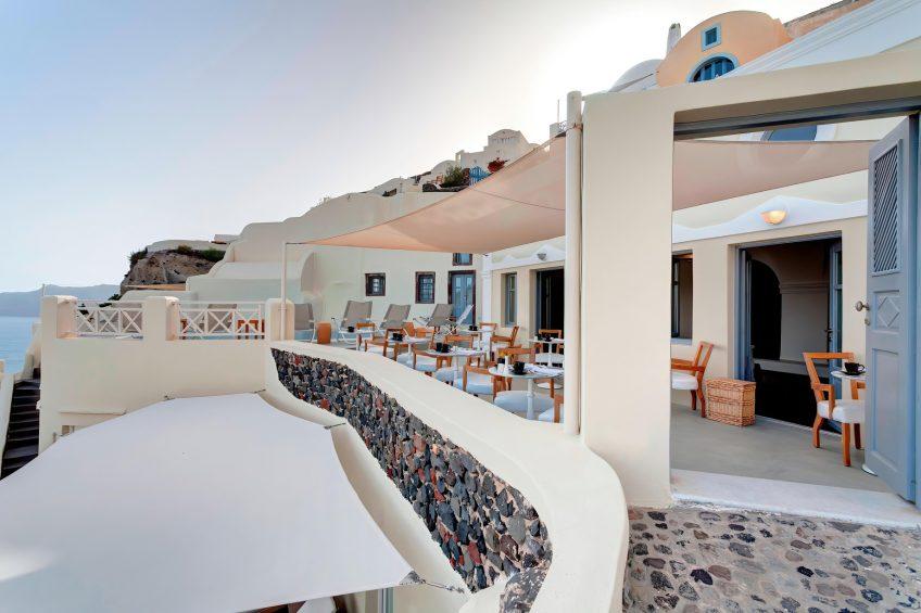 Mystique Luxury Hotel Santorini – Oia, Santorini Island, Greece - Captain's Lounge Entrance