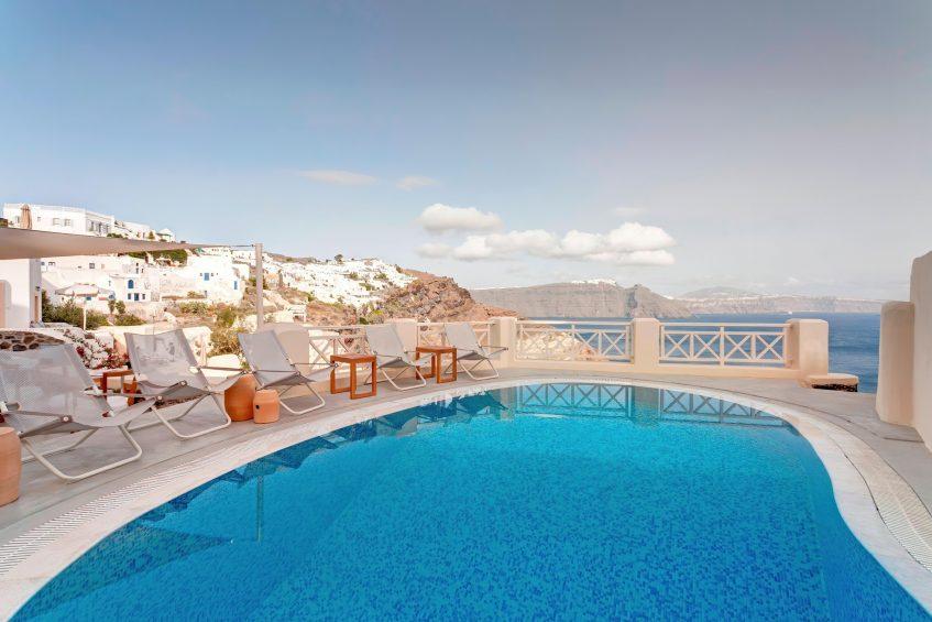 Mystique Luxury Hotel Santorini – Oia, Santorini Island, Greece - Pool Overlooking the Caldera