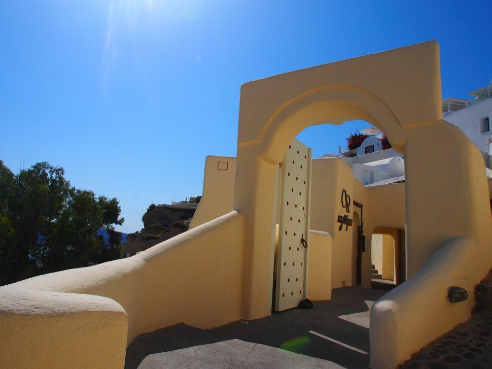 Mystique Luxury Hotel Santorini – Oia, Santorini Island, Greece - Hotel Entrance