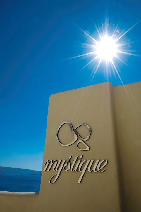 Mystique Luxury Hotel Santorini – Oia, Santorini Island, Greece - Mystique Sign