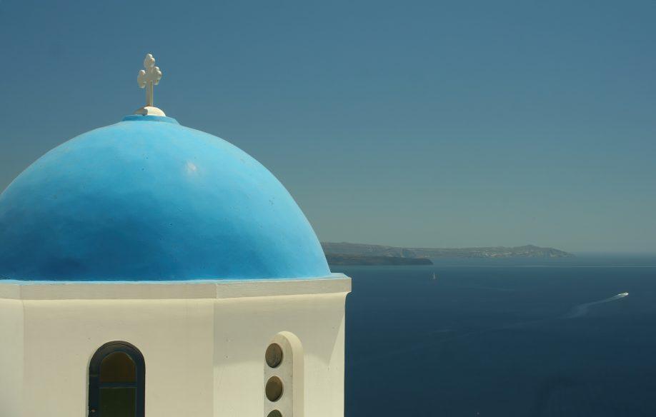 Mystique Luxury Hotel Santorini – Oia, Santorini Island, Greece - Church Ocean View