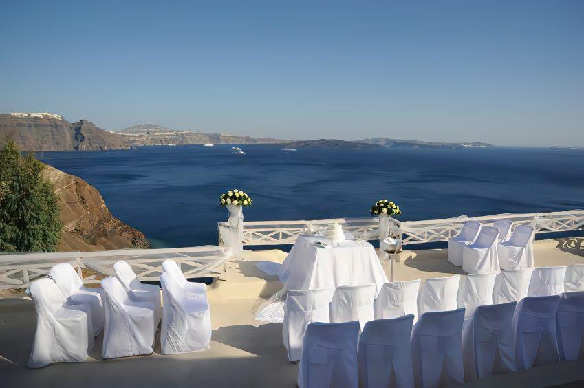 Mystique Luxury Hotel Santorini – Oia, Santorini Island, Greece - Ocean View Wedding Ceremony