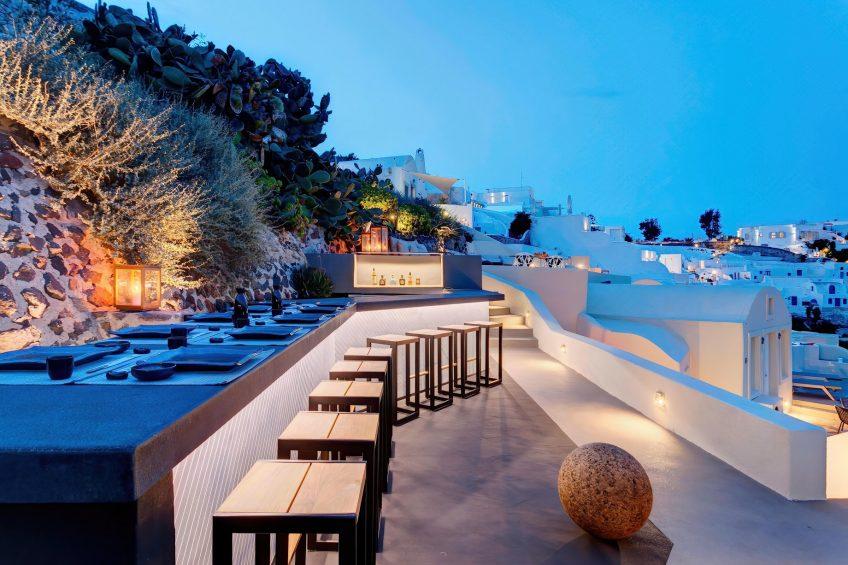 Mystique Luxury Hotel Santorini – Oia, Santorini Island, Greece - Cliffside ASEA Restaurant and Cocktail Bar