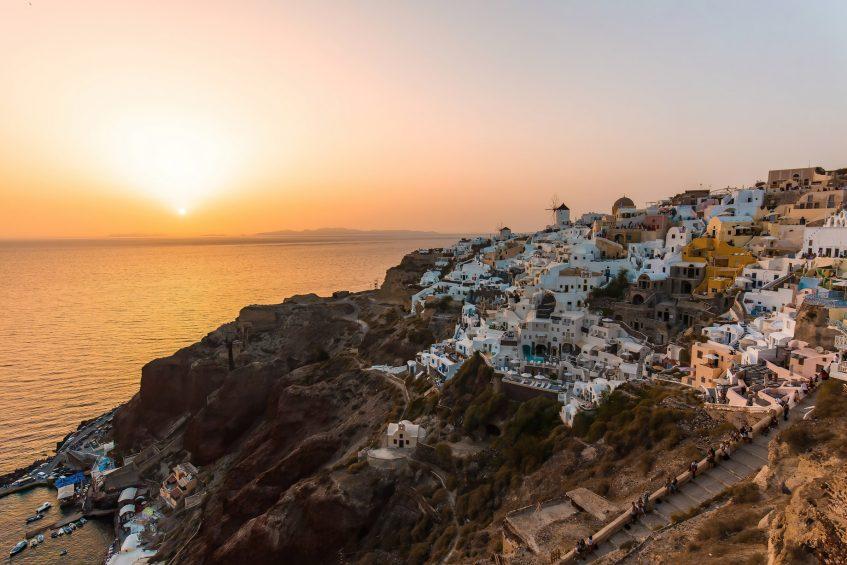 Mystique Luxury Hotel Santorini – Oia, Santorini Island, Greece - Cliffside Ocean View Sunset