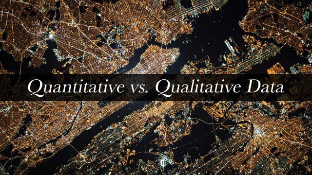 Quantitative vs. Qualitative Data