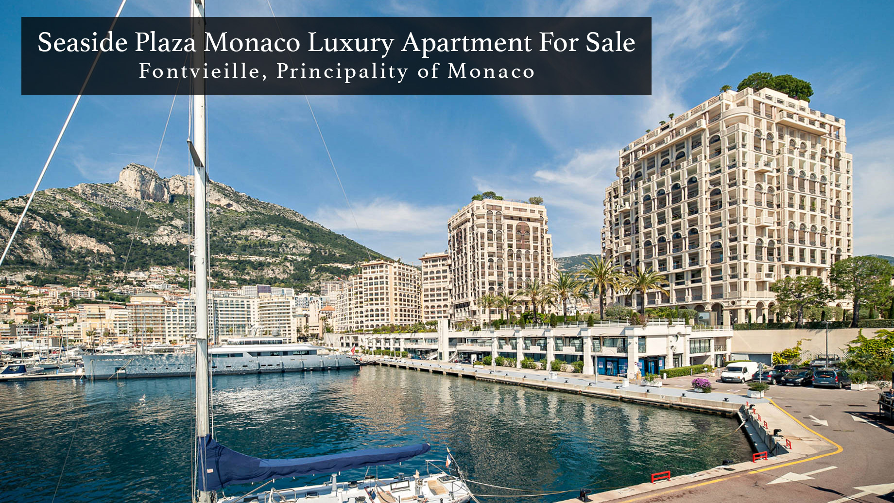 Seaside Plaza Monaco Luxury Apartment For Sale in Fontvieille, Principality of Monaco