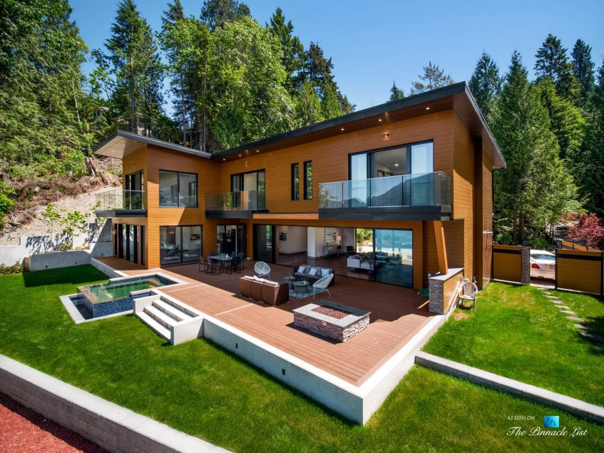 3350 Watson Rd, Belcarra, BC, Canada - Vancouver Luxury Real Estate - Rear Exterior Oceanfront Deck