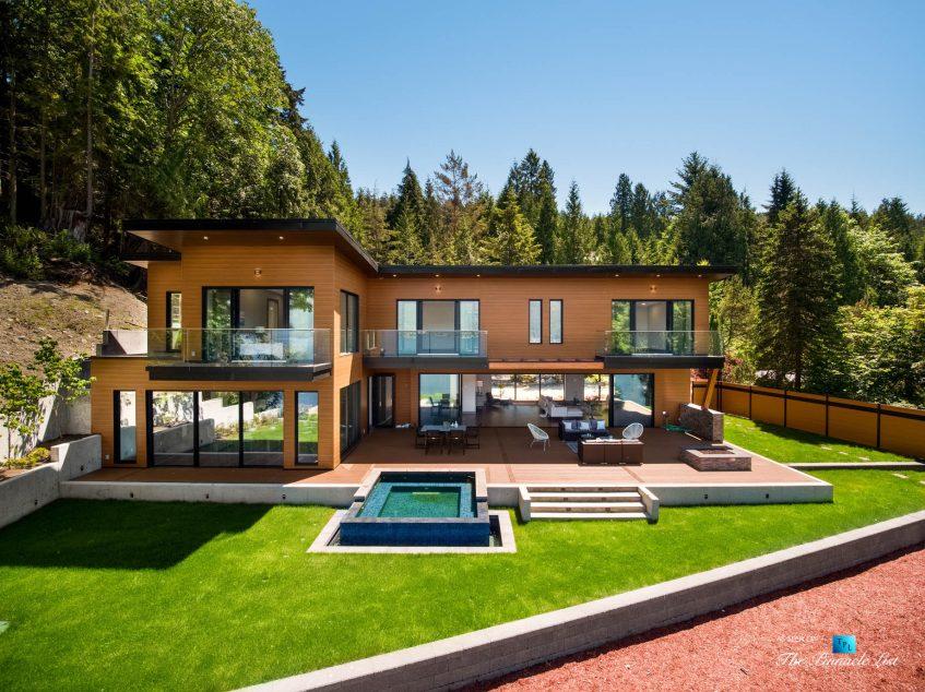 3350 Watson Rd, Belcarra, BC, Canada - Vancouver Luxury Real Estate - Rear Ocean View Deck