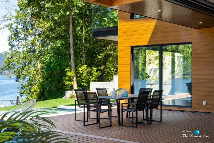 3350 Watson Rd, Belcarra, BC, Canada - Vancouver Luxury Real Estate - Oceanfront Deck Patio Table