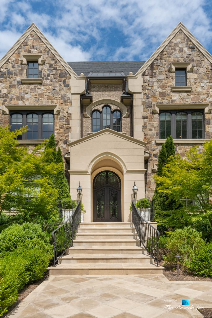 5705 Winterthur Ln, Sandy Springs, GA, USA - Atlanta Luxury Real Estatev - Winterthur Estates Home Front Entrance
