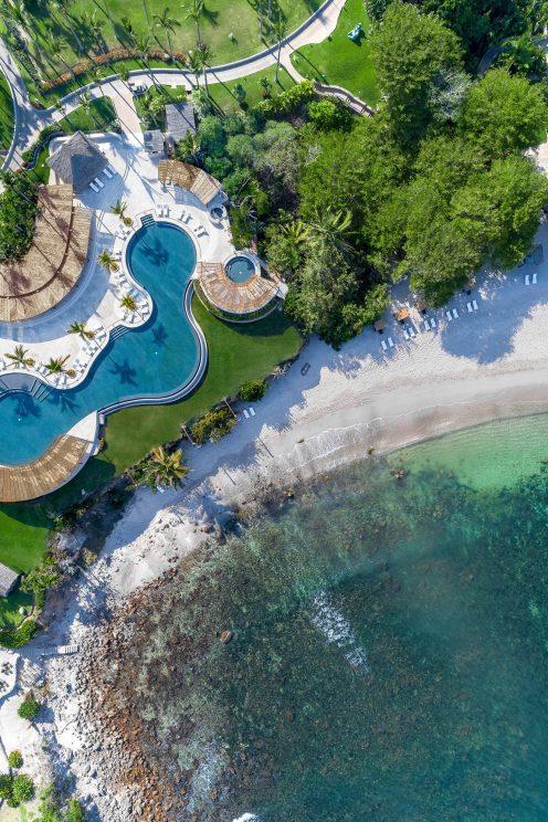 Four Seasons Luxury Resort Punta Mita - Nayarit, Mexico - Aerial Overhead Infinity Pool and Beach