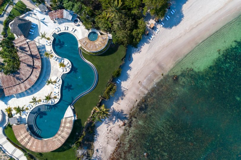Four Seasons Luxury Resort Punta Mita - Nayarit, Mexico - Overhead Infinity Pool and Beach