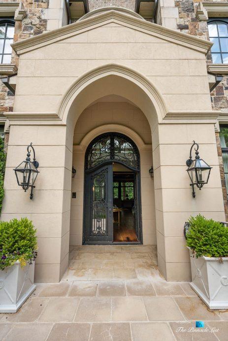 5705 Winterthur Ln, Sandy Springs, GA, USA - Atlanta Luxury Real Estate - Front Rod Iron Door Entrance