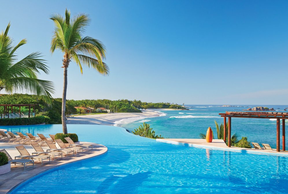 Four Seasons Luxury Resort Punta Mita - Nayarit, Mexico - Resort Infinity Pool and Beach View