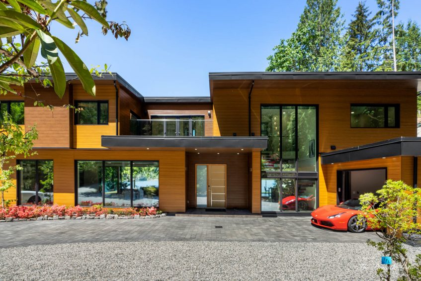 3350 Watson Rd, Belcarra, BC, Canada - Vancouver Luxury Real Estate - Modern Oceanfront Mansion with Red Ferrari