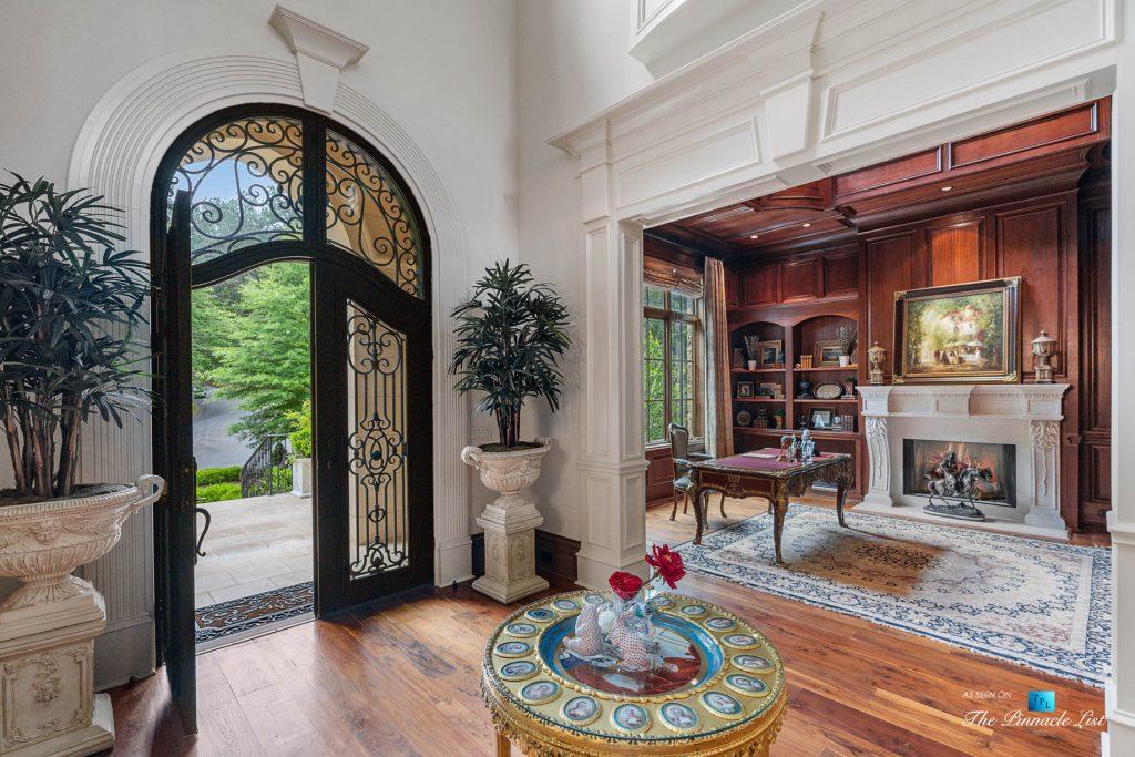 5705 Winterthur Ln, Sandy Springs, GA, USA - Atlanta Luxury Real Estate - Winterthur Estates Home - Foyer and Office