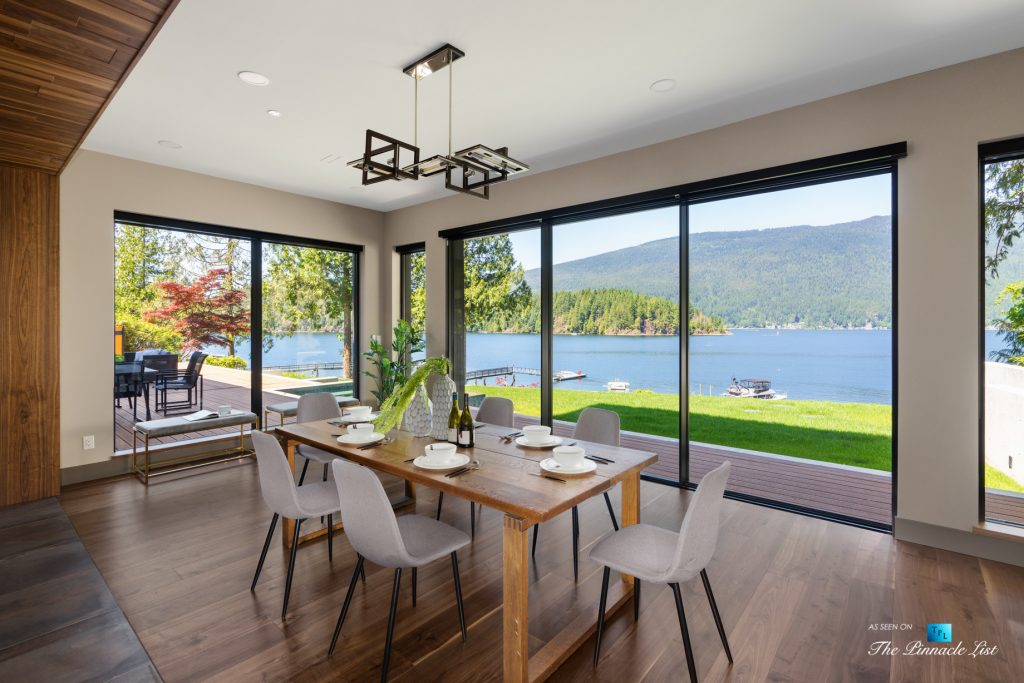 3350 Watson Rd, Belcarra, BC, Canada - Vancouver Luxury Real Estate - Oceanview Dining Room and Deck