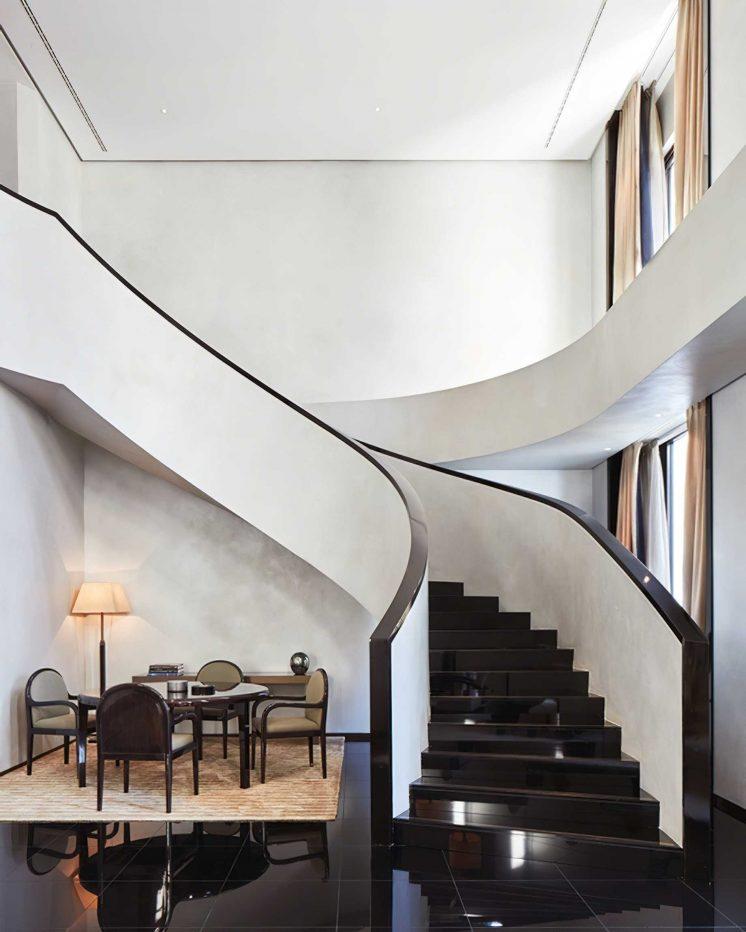 Armani Luxury Hotel Milano - Milan, Italy - Armani Signature Suite Gym Living Room Stairs