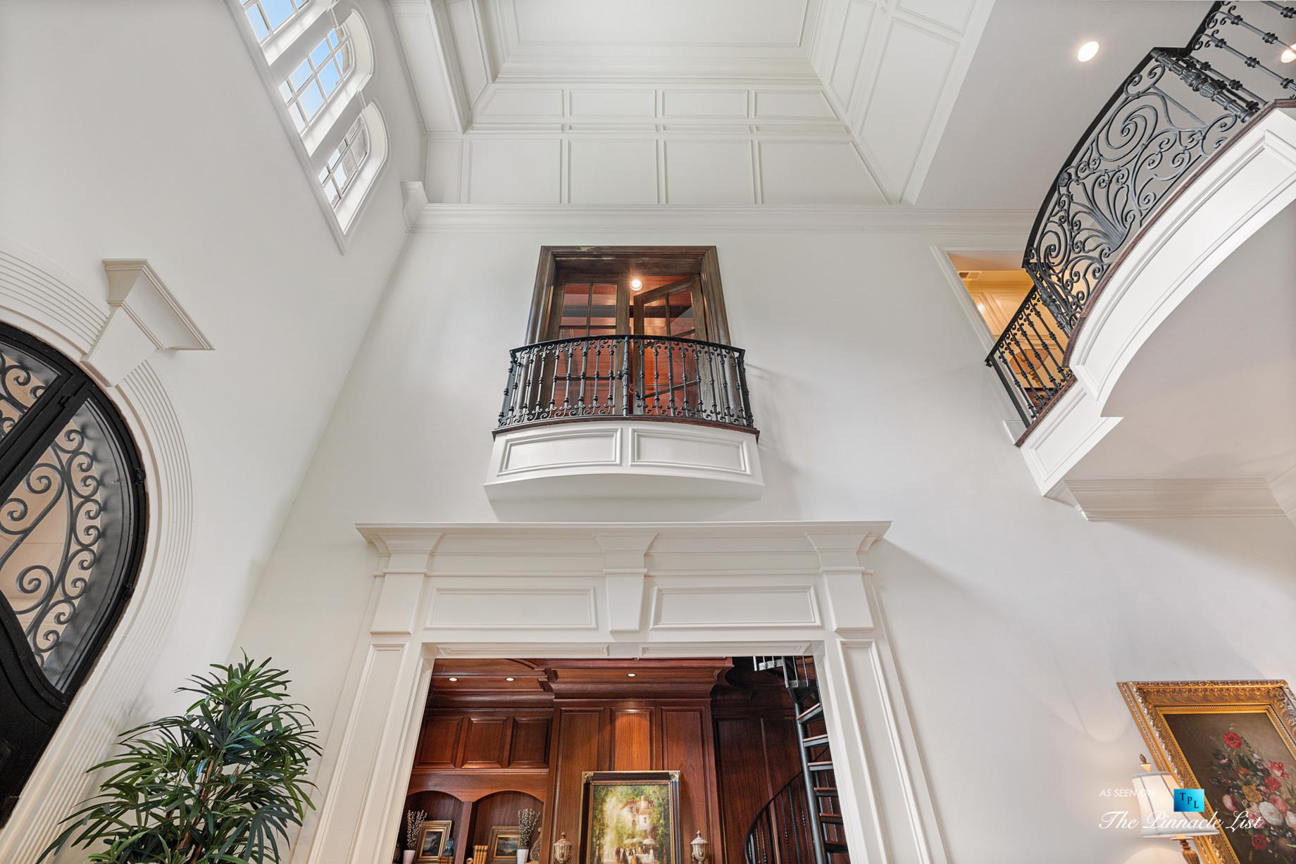 5705 Winterthur Ln, Sandy Springs, GA, USA – Atlanta Luxury Real Estate – Winterthur Estates Home – Foyer Second Floor Balcony
