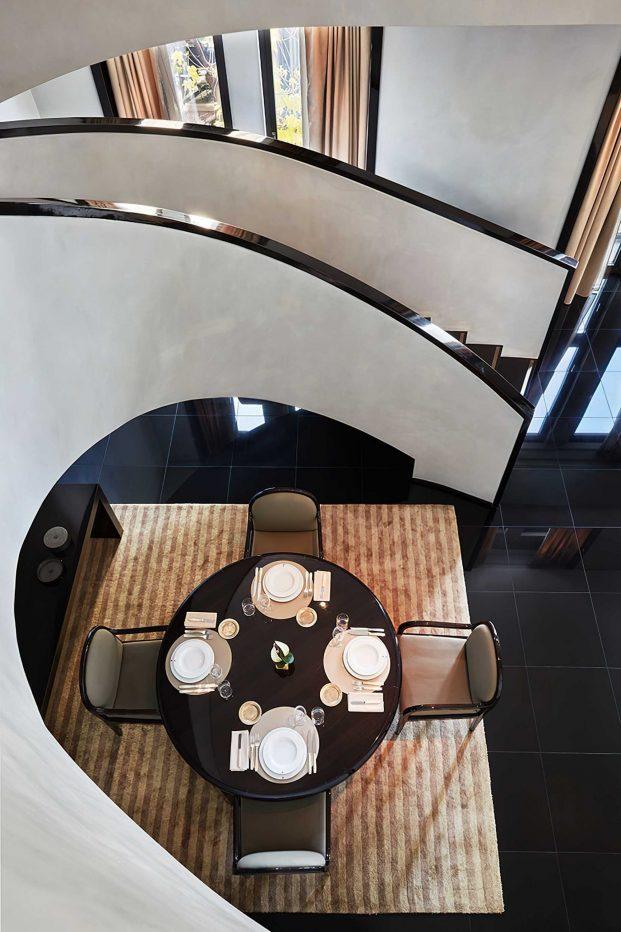 Armani Luxury Hotel Milano - Milan, Italy - Armani Signature Suite Gym Dining Room Stairs