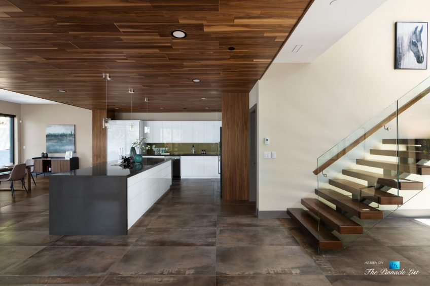 3350 Watson Rd, Belcarra, BC, Canada - Vancouver Luxury Real Estate - Modern Open Concept Kitchen and Stairs