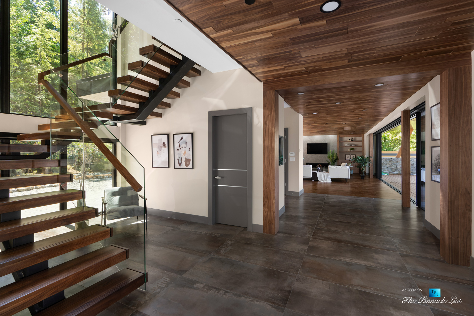 3350 Watson Rd, Belcarra, BC, Canada - Vancouver Luxury Real Estate - Modern Home Open Stairs and Hallway