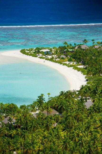 The Brando Luxury Resort - Tetiaroa Private Island, French Polynesia - Resort Private Beach Aerial View