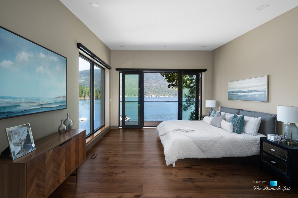 3350 Watson Rd, Belcarra, BC, Canada - Vancouver Luxury Real Estate - Oceanview Master Bedroom