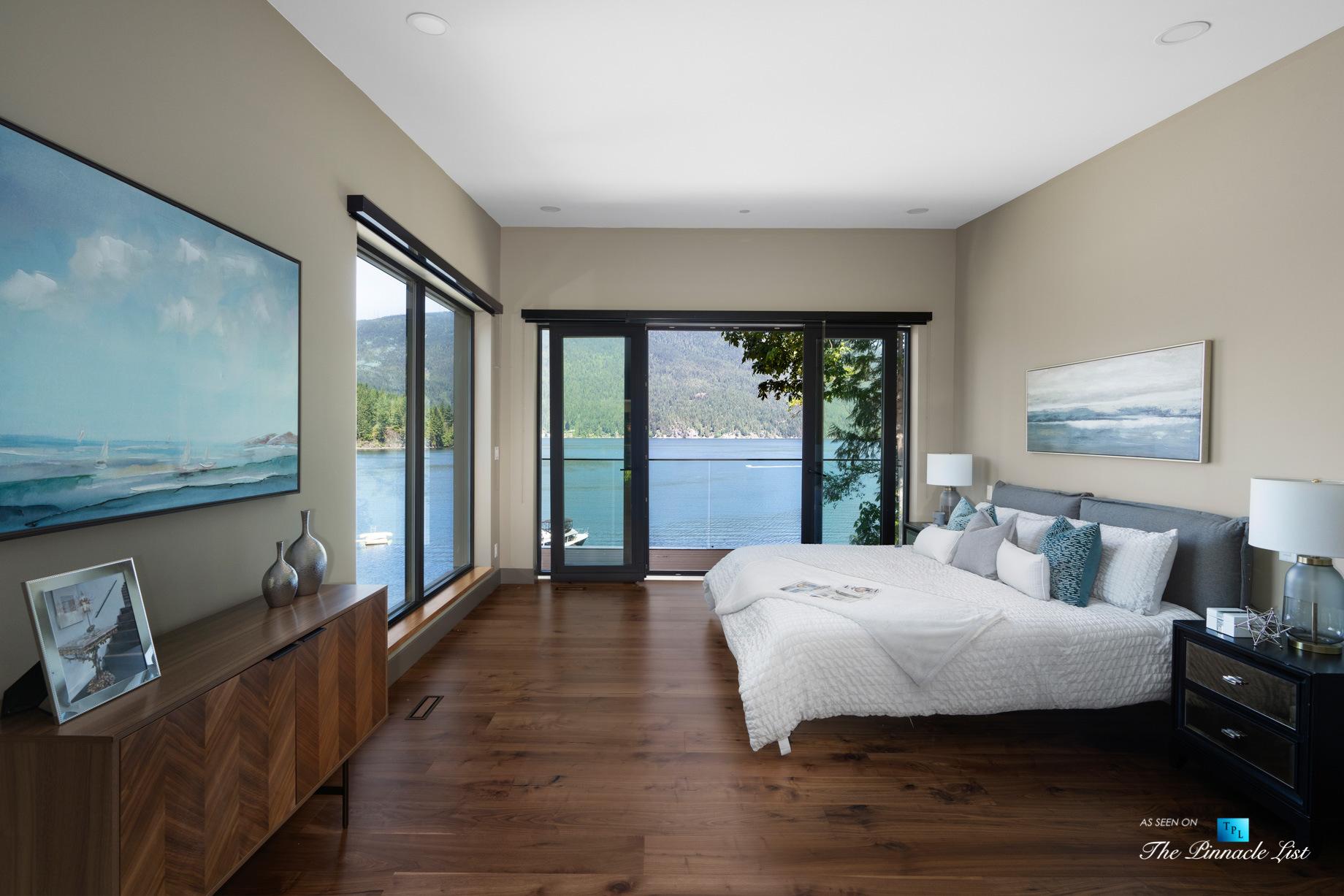 3350 Watson Rd, Belcarra, BC, Canada – Vancouver Luxury Real Estate – Oceanview Master Bedroom