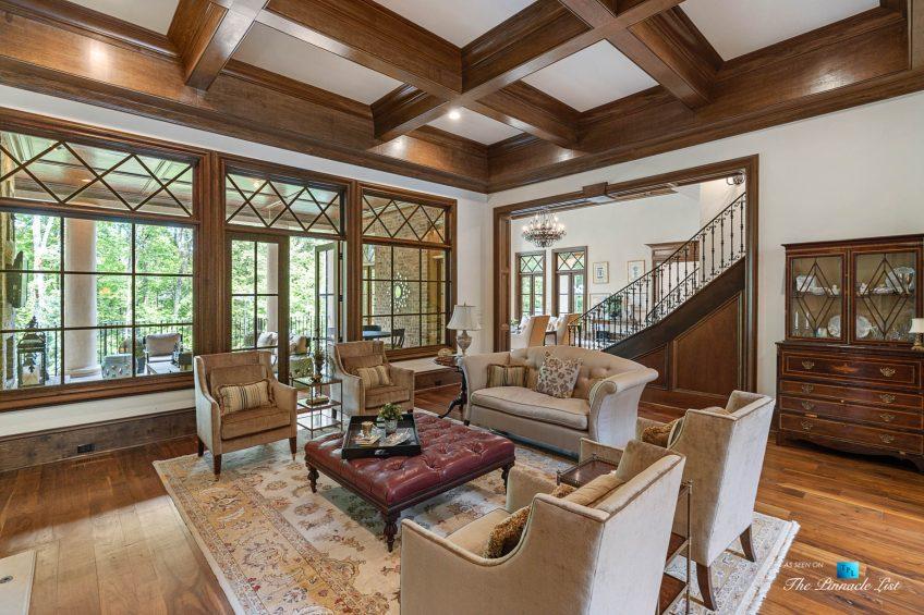 5705 Winterthur Ln, Sandy Springs, GA, USA - Atlanta Luxury Real Estate - Winterthur Estates Home - Living Room and Back Deck