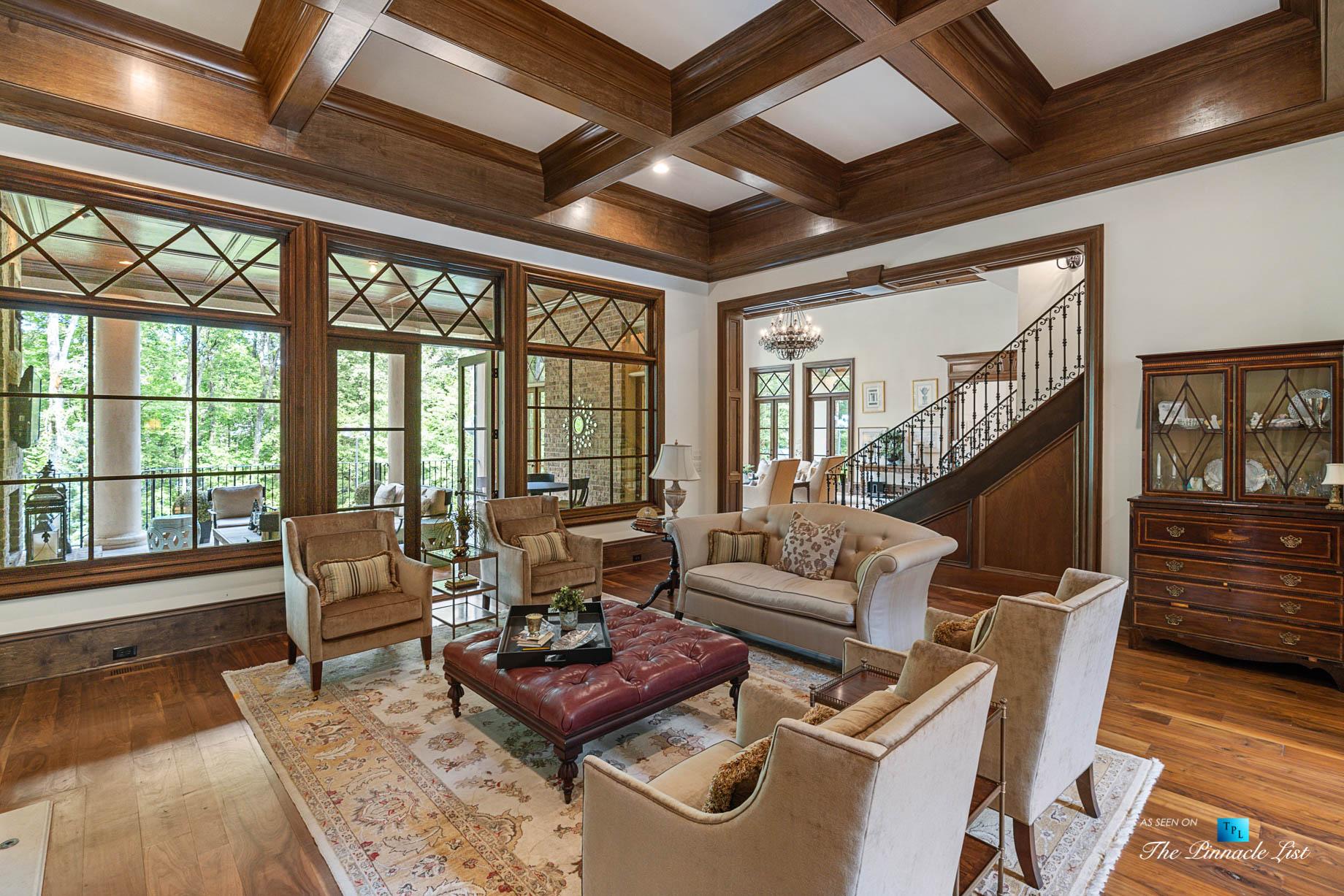 5705 Winterthur Ln, Sandy Springs, GA, USA – Atlanta Luxury Real Estate – Winterthur Estates Home – Living Room and Back Deck