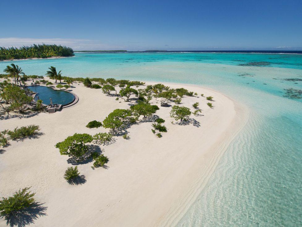 The Brando Luxury Resort - Tetiaroa Private Island, French Polynesia - Resort Private Beach and Pool Aerial View