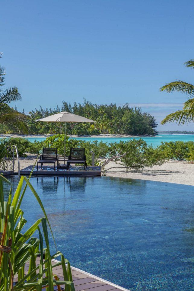 The Brando Luxury Resort - Tetiaroa Private Island, French Polynesia - Resort Pool and Beach View