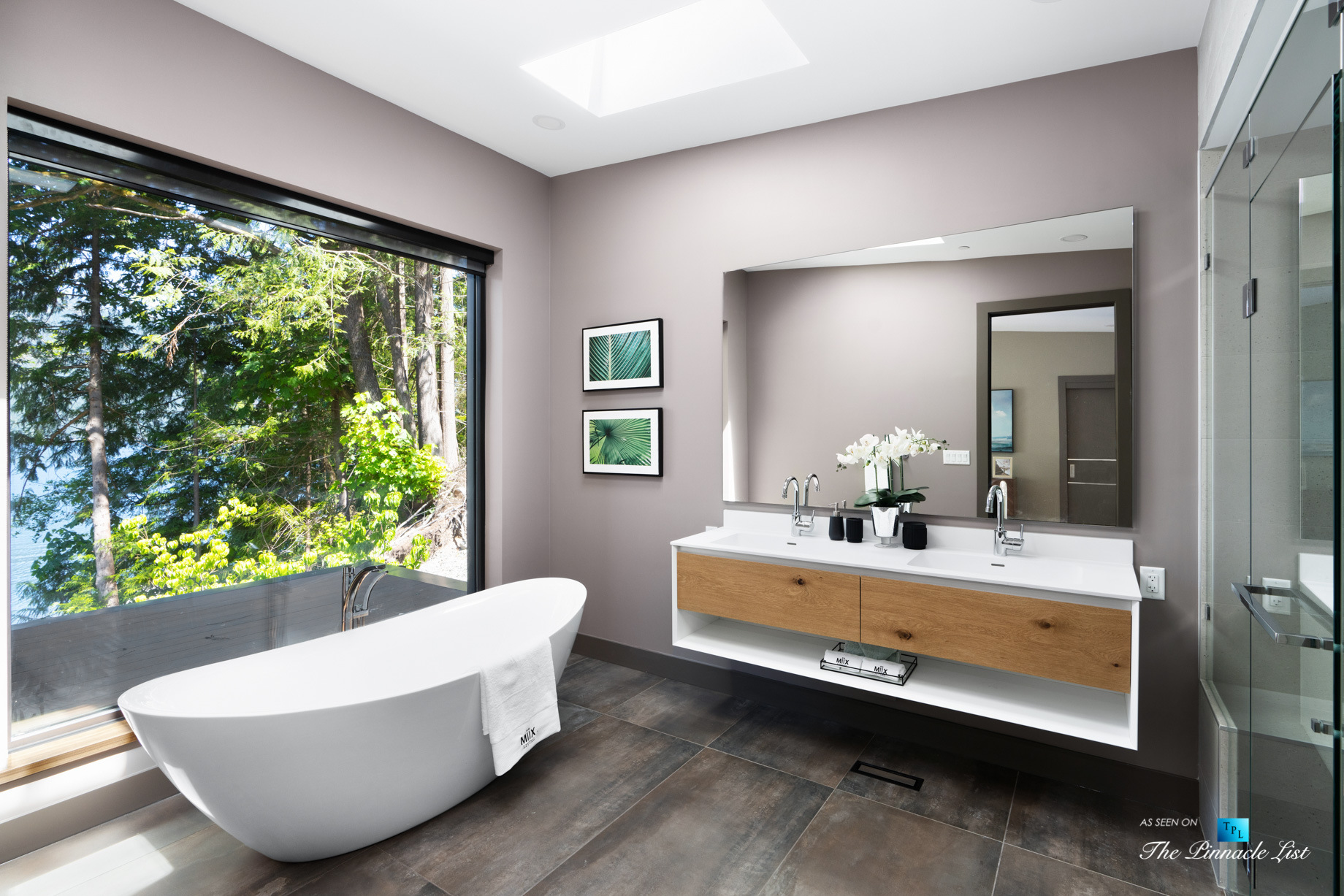 3350 Watson Rd, Belcarra, BC, Canada – Vancouver Luxury Real Estate – Oceanview Modern Master Bathroom
