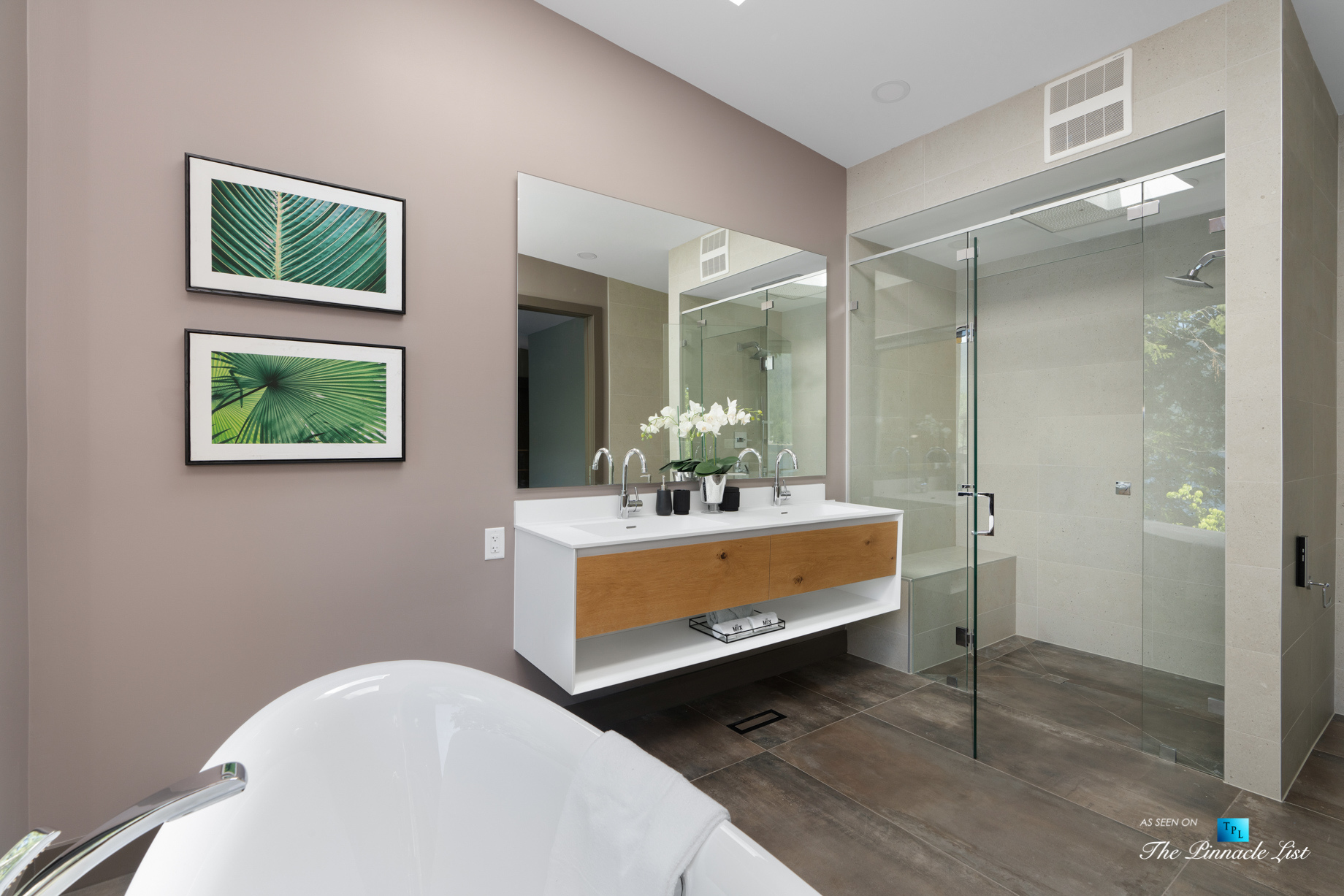 3350 Watson Rd, Belcarra, BC, Canada – Vancouver Luxury Real Estate – Oceanview Modern Master Bathroom Shower