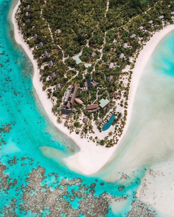 The Brando Luxury Resort - Tetiaroa Private Island, French Polynesia - Resort Overhead Aerial View
