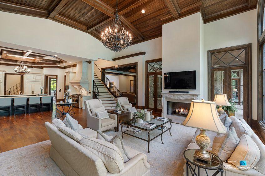 5705 Winterthur Ln, Sandy Springs, GA, USA - Atlanta Luxury Real Estate - Winterthur Estates Home - Formal Living Room Staircase