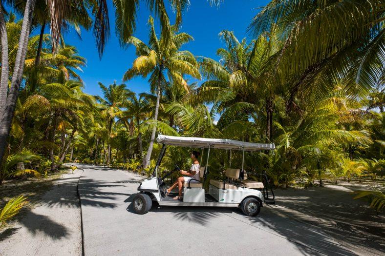 The Brando Luxury Resort - Tetiaroa Private Island, French Polynesia - Golf Cart Island Transportation
