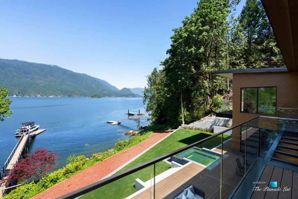 3350 Watson Rd, Belcarra, BC, Canada - Vancouver Luxury Real Estate - Oceanview Balcony