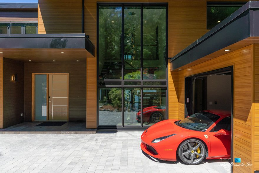 3350 Watson Rd, Belcarra, BC, Canada - Vancouver Luxury Real Estate - Modern Architectural Home with Red Ferrari